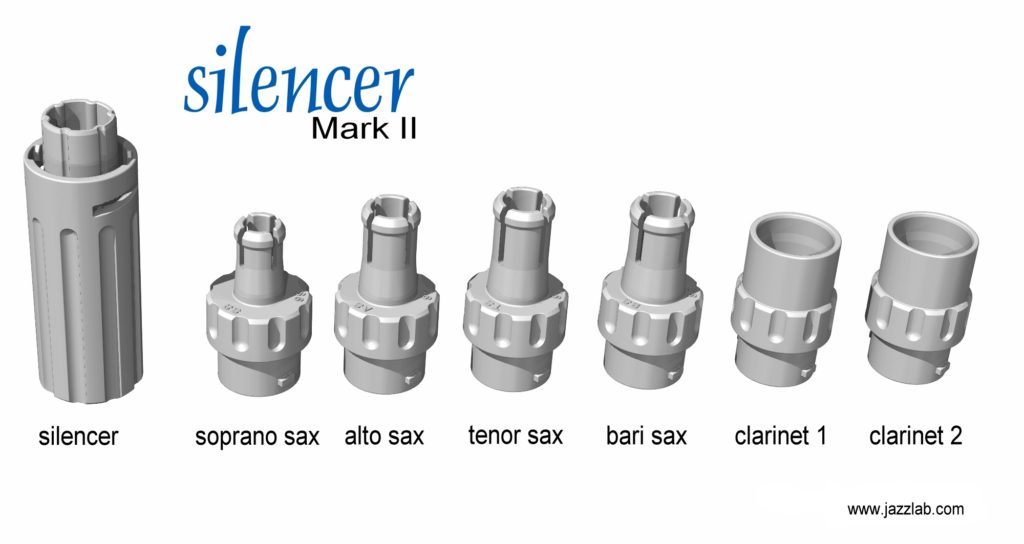 Jazzlab Silencer For Saxophone And Clarinet Mouthpiece Practice Exercise Sax